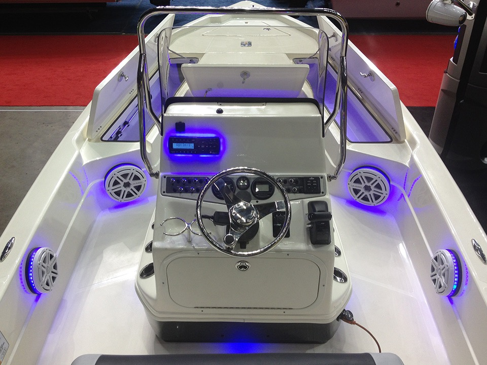 Metairie Client Adds Marine Audio System To 24 Foot Skeeter